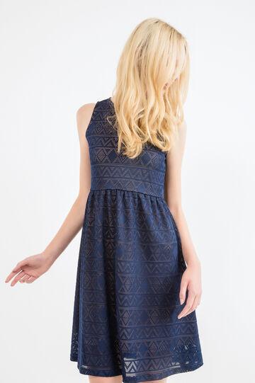 Solid colour sleeveless dress, Dark Blue, hi-res