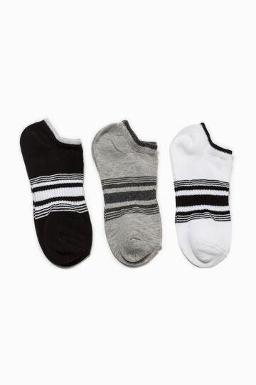 Three-pack striped socks