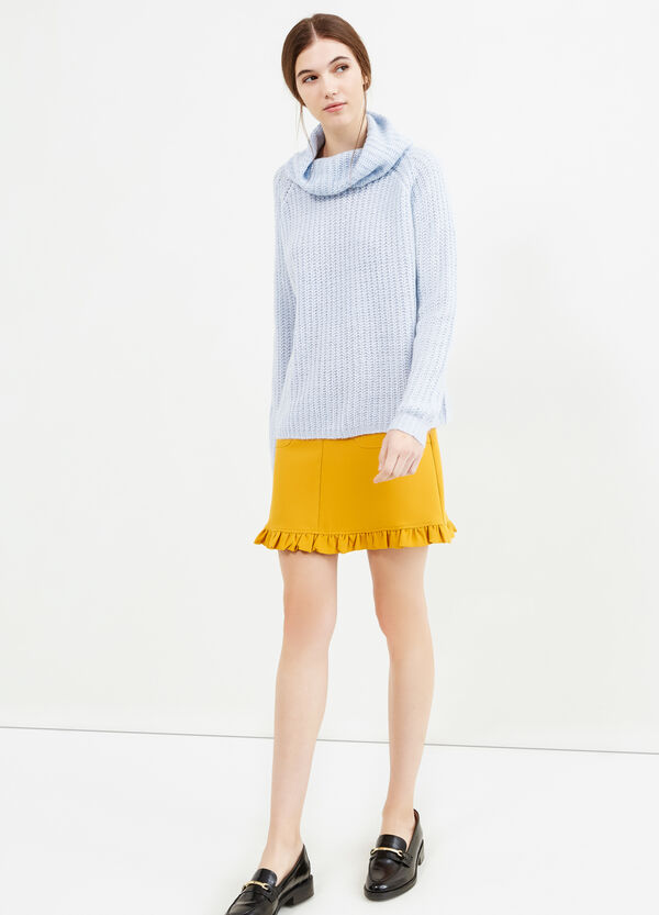 Chunky knit pullover with high neck   OVS
