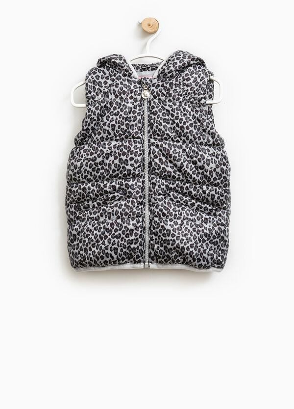 Animal print padded waistcoat | OVS