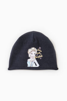Frozen print beanie cap, Navy Blue, hi-res