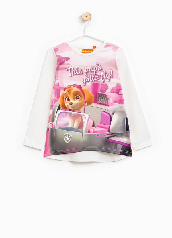 Stretch cotton T-shirt with Paw Patrol print | OVS