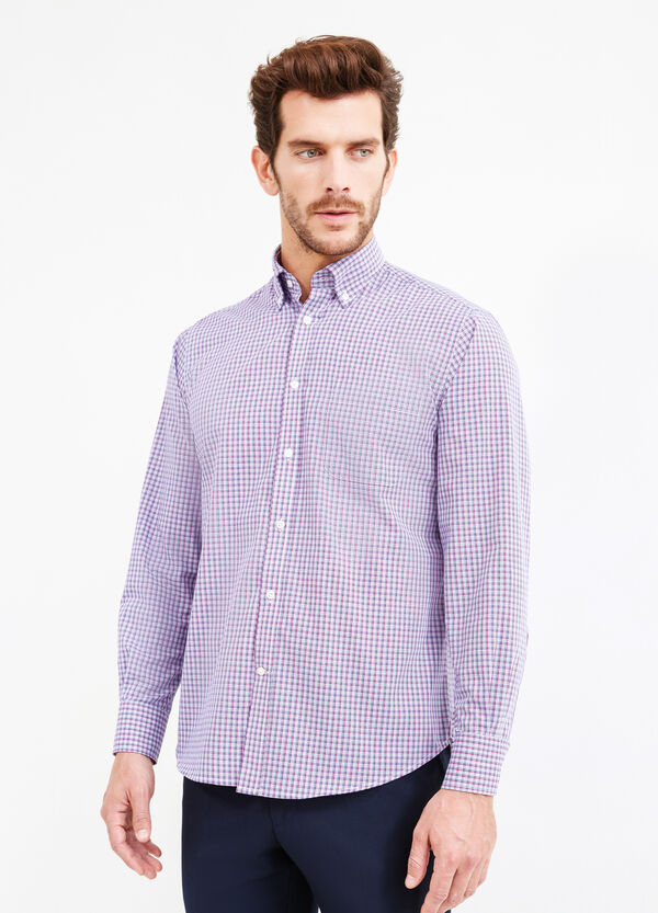 Check-patterned regular-fit formal shirt | OVS