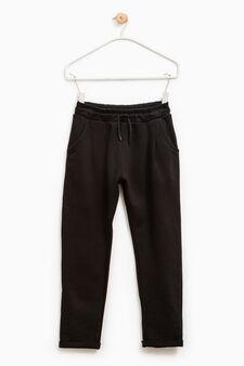 100% cotton joggers, Black, hi-res