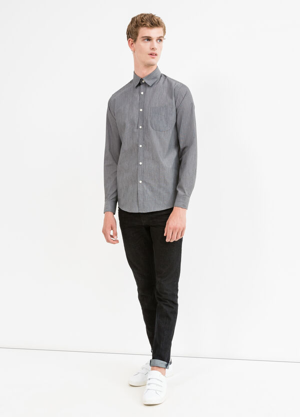 Patterned casual shirt in cotton blend | OVS