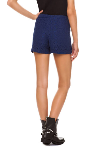 Shorts in pizzo, Blu, hi-res