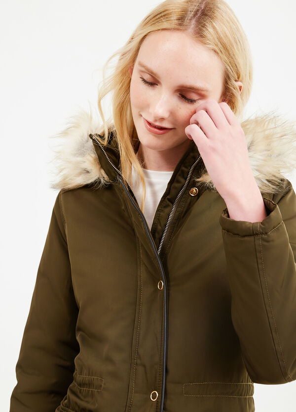 Solid colour parka with hood | OVS