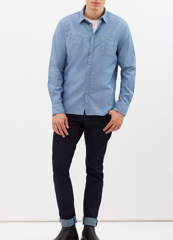 Plain slim fit shirt | OVS