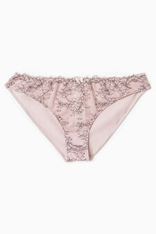 Openwork stretch briefs, Pink, hi-res