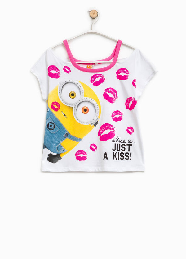 T-shirt stampa Minions con strass | OVS