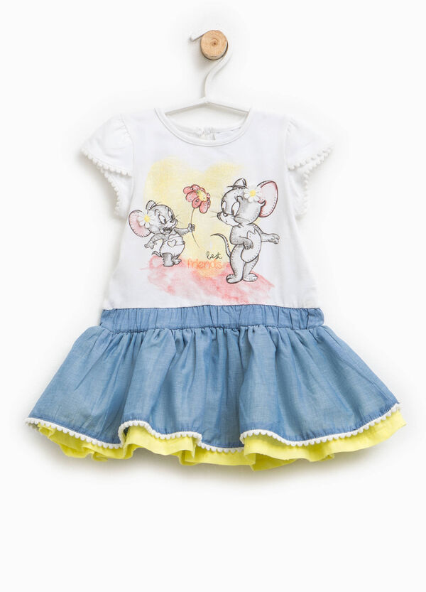Dress with Tom and Jerry print and diamantés | OVS