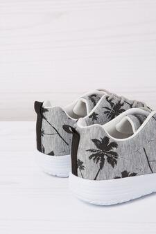 Printed sneakers, Concrete Grey, hi-res
