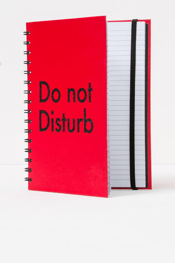 Spiral ring notebook with lined pages, Red, hi-res