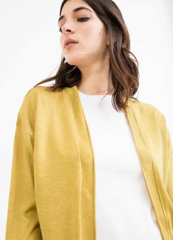 Viscose blend cardigan with splits | OVS