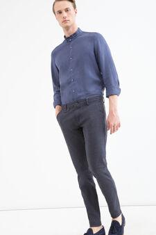 Stretch cotton chinos, Blue, hi-res