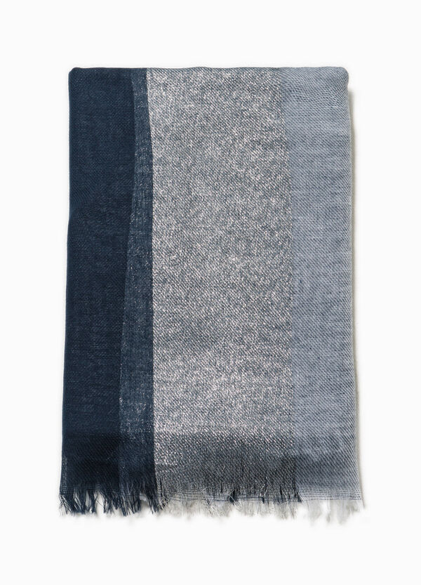 Two-tone scarf with glitter insert | OVS