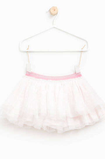 Tulle skirt with glitter, Milky White, hi-res