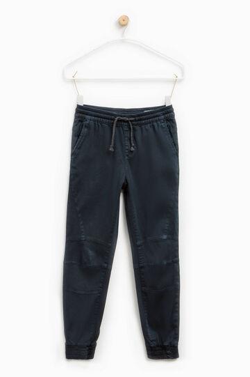Stretch cotton joggers, Dark Blue, hi-res