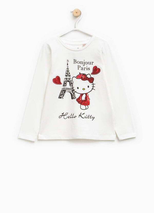 T-shirt with Hello Kitty print and sequins   OVS