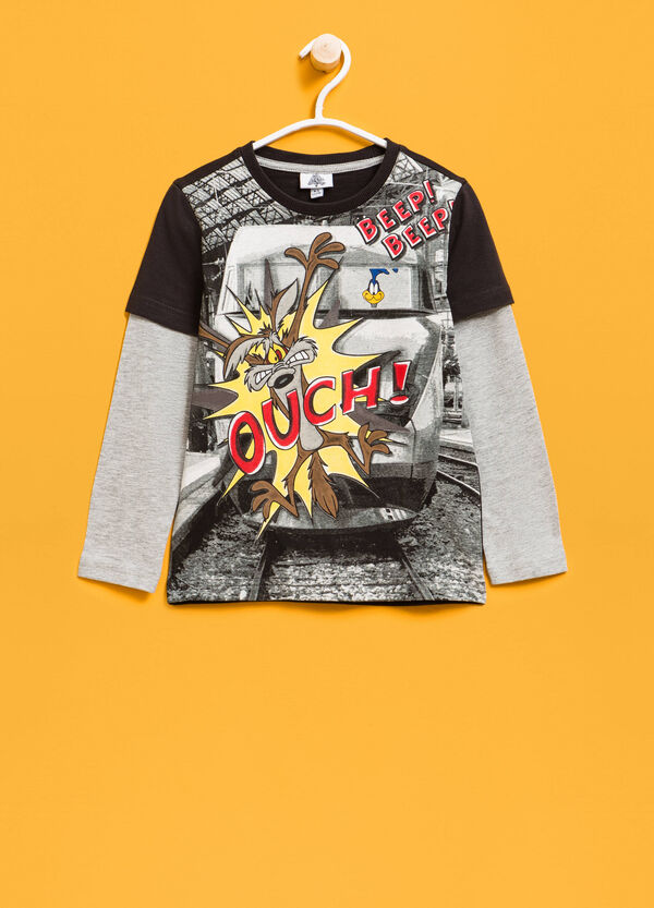 T-shirt with maxi Wile E. Coyote print | OVS