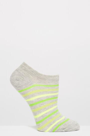 Three-pack stretch cotton socks, Green/Grey, hi-res