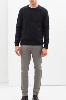 Regular fit stretch jeans, Grey, hi-res