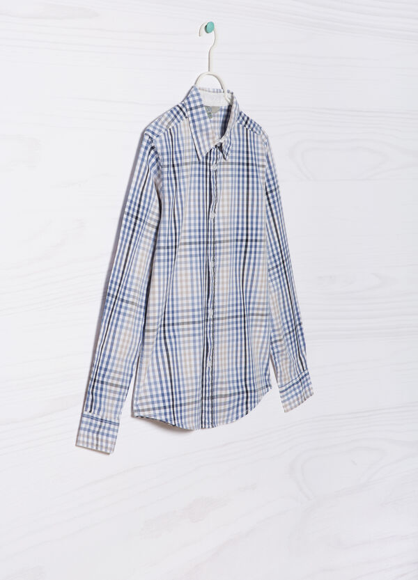 Check shirt in 100% cotton | OVS