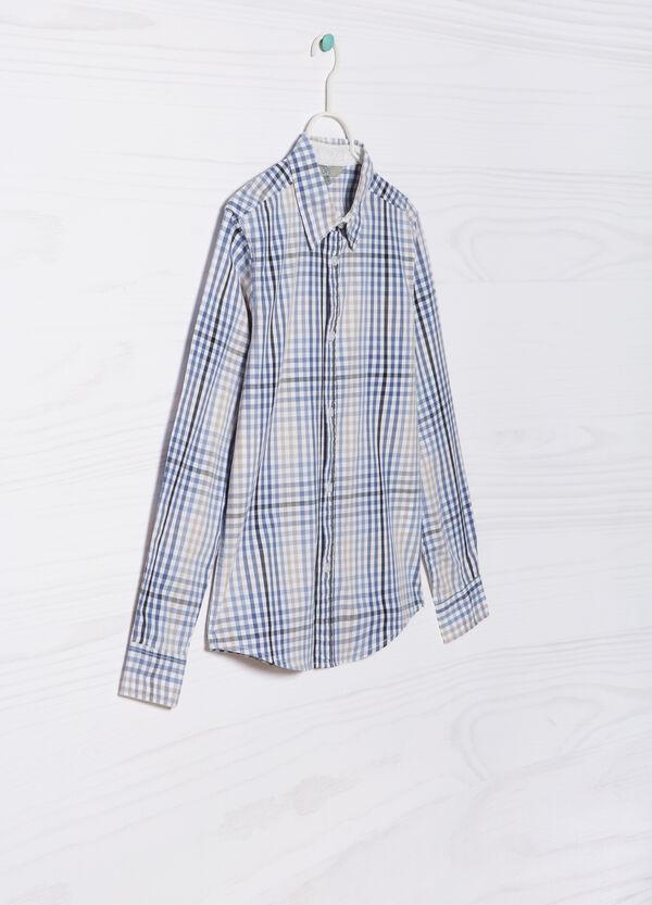 Camicia in puro cotone quadretti | OVS