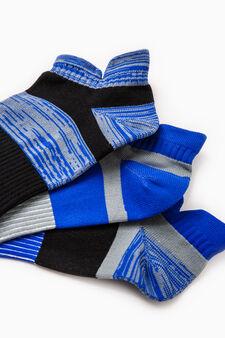 Set tre paia calze rigate OVS Active Sport Training, Azzurro, hi-res