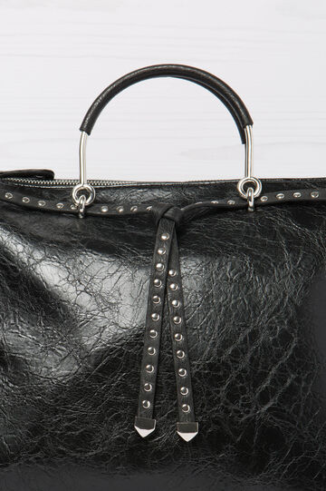Handbag with studs, Black, hi-res