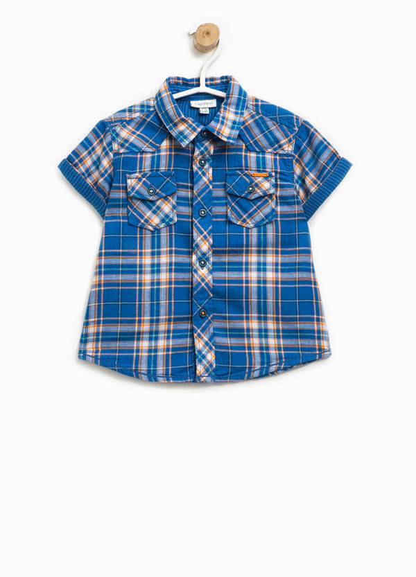 Short-sleeved shirt with tartan pattern | OVS