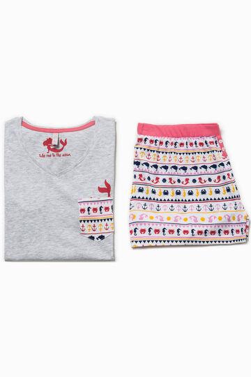 Cotton and viscose patterned pyjamas