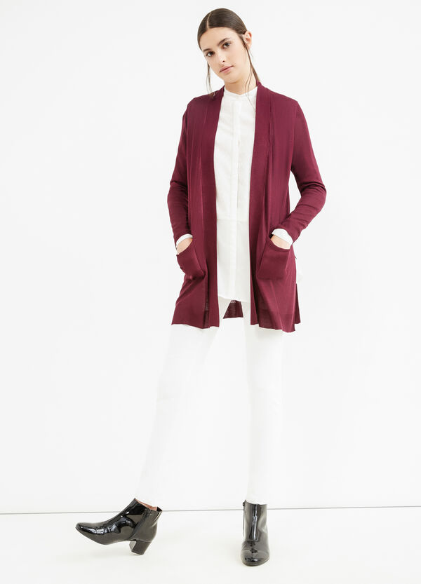 Cardigan pura viscosa con spacchi | OVS