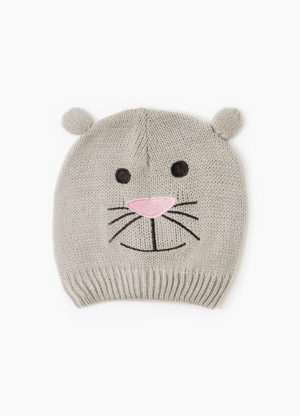 Embroidered beanie cap with ears | OVS