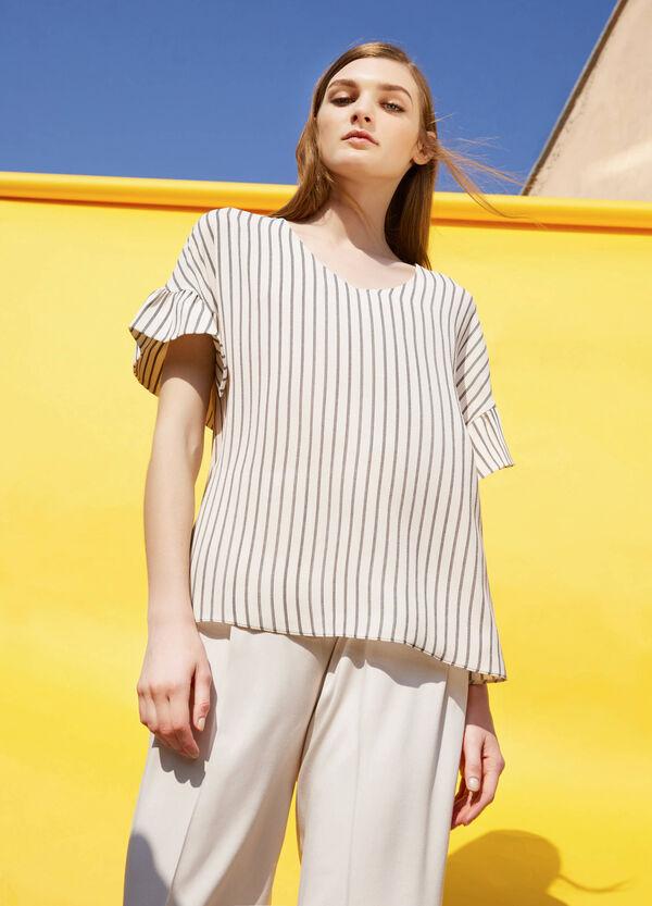 Blusa de rayas de manga corta | OVS