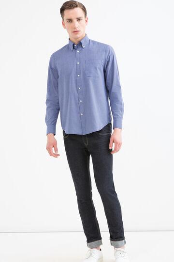 Camicia regular fit fantasia quadri, Blu, hi-res