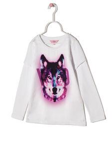 Wild print T-shirt, White, hi-res