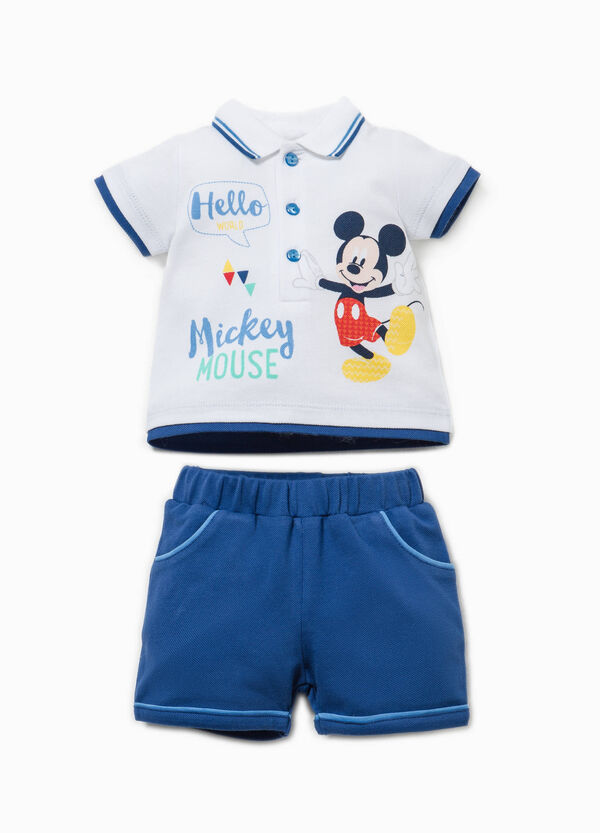 Mickey Mouse polo shirt and shorts set | OVS