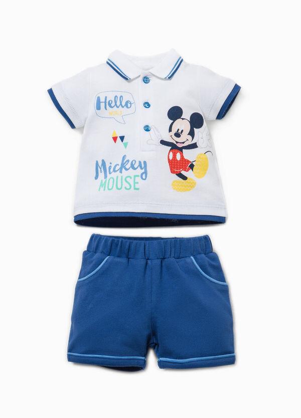 Conjunto de polo y pantalón corto de Mickey Mouse | OVS