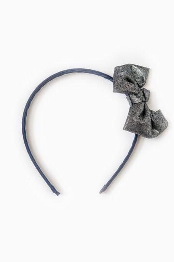 Cerchietto capelli con fiocco, Blu navy, hi-res