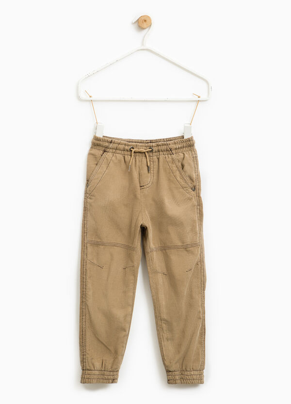 100% cotton ribbed trousers | OVS