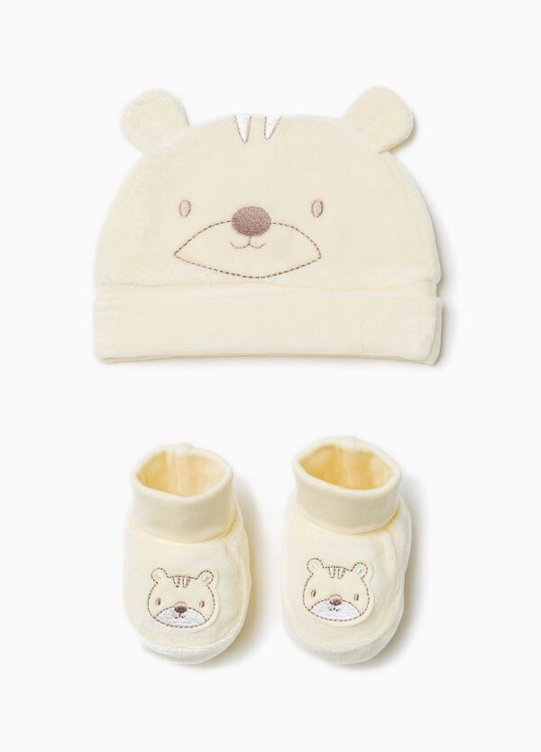 Cotton hat and shoes set | OVS