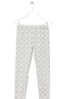 Patterned leggings, Black/White, hi-res
