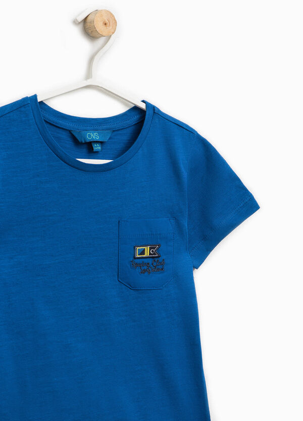 Cotton T-shirt with patch and embroidery | OVS
