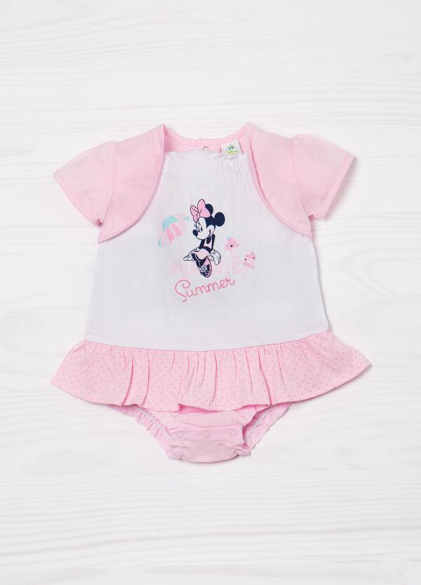 Minnie Mouse cotton print romper suit. | OVS