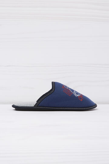 Slipper with print in contrasting colour, Navy Blue, hi-res