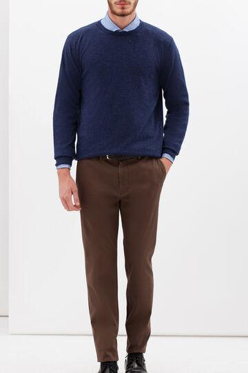 Rumford blended wool pullover., Denim, hi-res