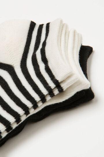 Three-pack striped short socks