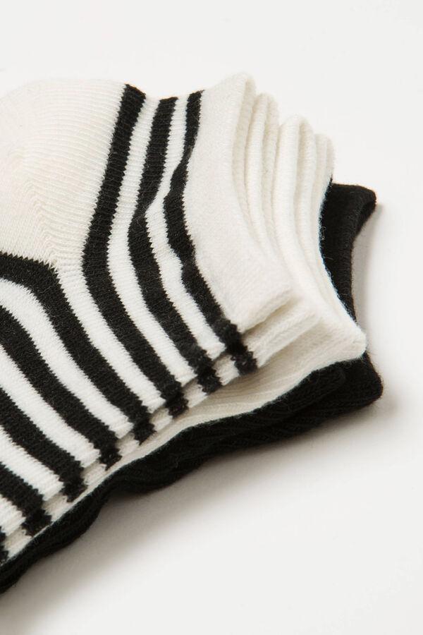 Set tre paia di calze corte a righe | OVS