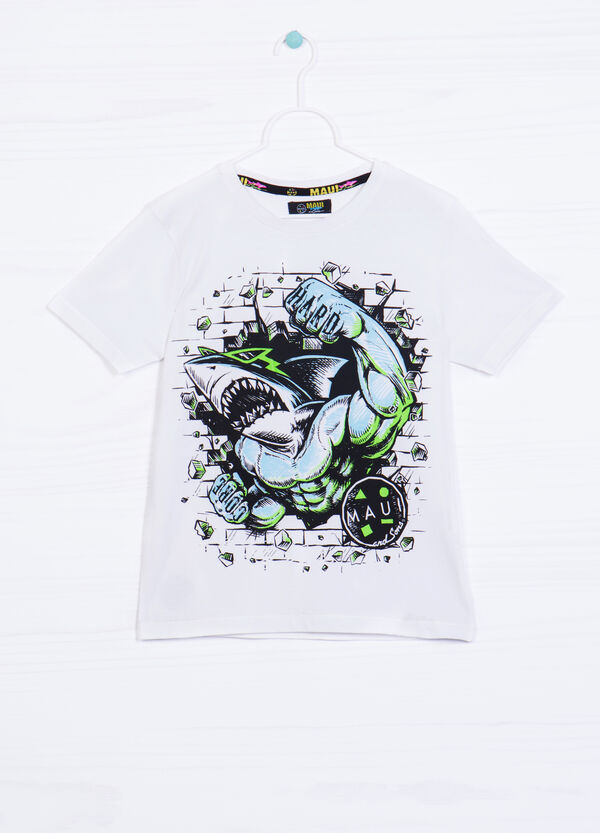 Cotton T-shirt with Maui and Sons print | OVS